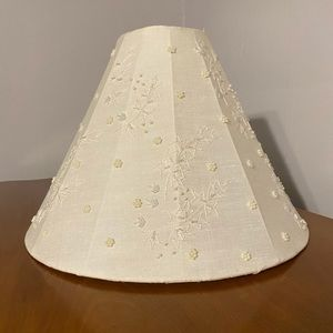 Vintage Hand-Stitched Lampshade
